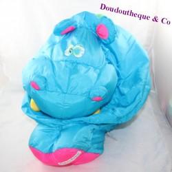 Hippopotamus FISHER PRICE Puffalump blue parachute canvas 37 cm