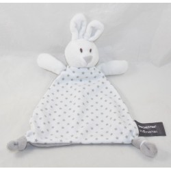Doudou flat rabbit ORCHESTRA triangle white triangle gray stars 28 cm
