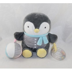 Penguin Activity peluche MOTS D'ENFANTS blue gray and white ball balls