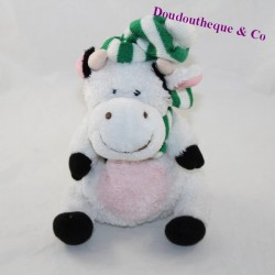 Cow cub and striped green scarf 18 cm