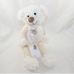 Kalidou bear bear BEAR ENESCO white bear striped beige scarf 35 cm