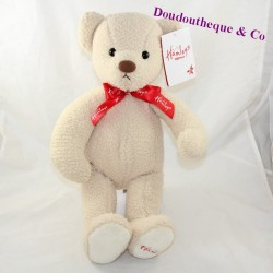 HAMLEYS beige red knot bear with neck 42 cm