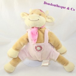 BENGY pink beige overalls sitting 24 cm