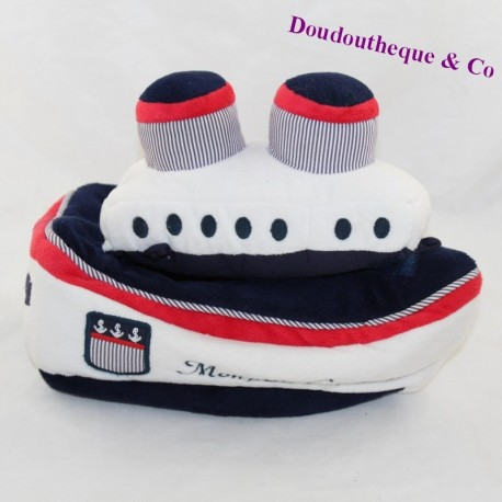 JACADI Boat Activity Cuddly My Little Captain 25 cm
