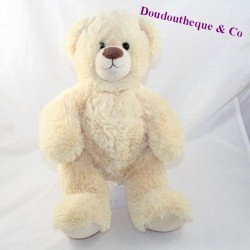 GIPSY bear with beige long hairs sitting 28 cm