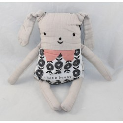 Reversible Flippy Rabbit WeE GALLERY emotions Hello Bunny linen with flaps 30 cm