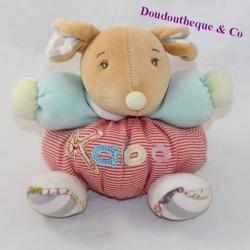 Doudou ball mouse KALOO Bliss stripes bell 13 cm