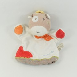 Baby cow towel 9 white orange brown 27 cm