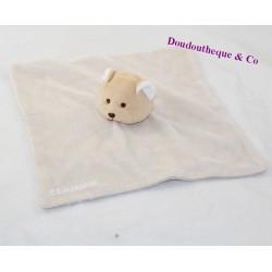 Doudou flat bear CLARINS beige peas 22 cm