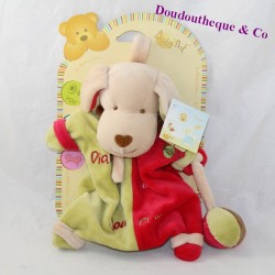 Doudou puppet Diabolo dog BABY NAT' loves playing 23 cm