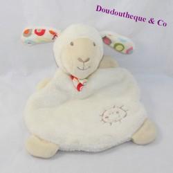 Doudou flat sheep BABY CLUB C-A white sun 22 cm