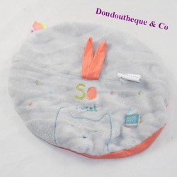 Doudou flat cat SUCRE D'ORGE So sweet round attaches nipple 23 cm