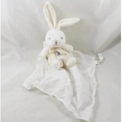 Doudou rabbit Lange KALOO White Pearl Kaloodoo 12 cm