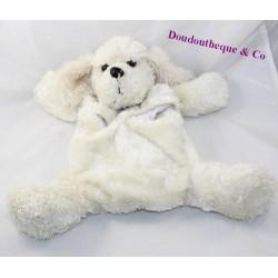 Peluche range pajamas dog ETAM bottle beige hairs long 3 in 1 42 cm