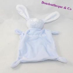 Doudou flat rabbit GRAIN OF BLUE and white star 20 cm