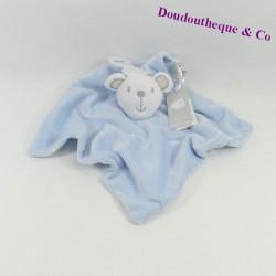 Doudou flat bear PRIMARK BABY blue white stars 32 cm