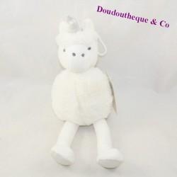 Doudou unicorn HELLO KIDS silver white ball 27 cm