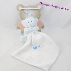 Doudou bear handkerchief BABY NAT' blue white handkerchief BN3530 10 cm