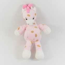 Pink giraffe with brown polka dots 27 cm