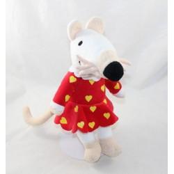Peluche Mimi the mouse AUGUSTA DU BAY red dress Maisy 30 cm Lucy Cousins 2002