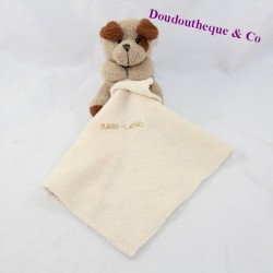 Doudou dog handkerchief BABY LAND brown beige 10 cm