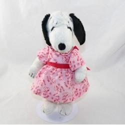 Gorgeous Beautiful PEANUTS dog Snoopy vintage pink dress 1968