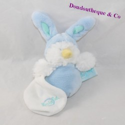 Doudou handkerchief chick BABY NAT hood blue rabbit BN058 12 cm