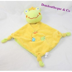 Doudou flat frog GMBH green yellow bell crown 32 cm
