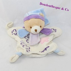 Doudou puppet bear DOUDOU AND COMPAGNY mom flowers 23 cm