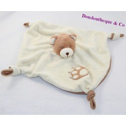 Doudou flat bear GIPSY beige brown imprinted 25 cm