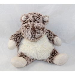 Bears hippopotamus CREATIONS DANI mottled white brown 22 cm