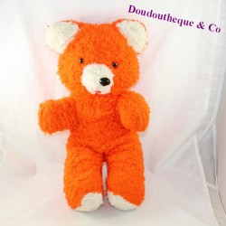 Teddy bear NOUNOURS vintage white orange pulls tongue 45 cm