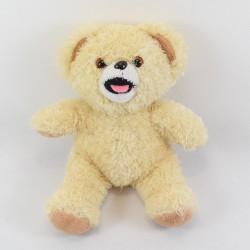 Advertising bear CAJOLINE beige bear seated 31 cm