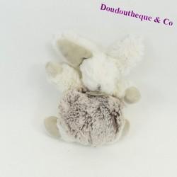 Mini plush rabbit BABY NAT' The grey white flakes BN749 14 cm