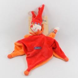 Capucin Dragobert flat comforter MOULIN ROTY orange red harlequin clown