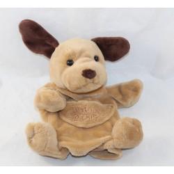 Doudou puppet dog HISTORY OF BEAR brown pocket 22 cm
