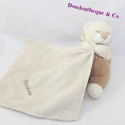 Doudou bear handkerchief bear KIMBALOO beige brown sleeper 15 cm