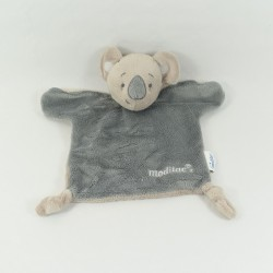 Doudou flat bear GIPHAR brown scarf blue pharmacy 23 cm