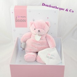 Doudou handkerchief cat DOUDOU AND COMPAGNIE I like my pink softie DC3165 25 cm