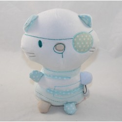 Peluche cat SILVER CROSS pirate blue white bandana eye 22 cm