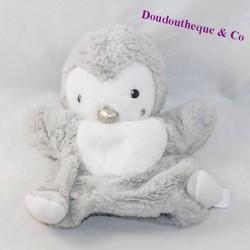 Doudou puppet penguin SIMBA TOYS white grey 23 cm
