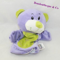 Doudou puppet bear GAME2MOMES purple green star 21 cm