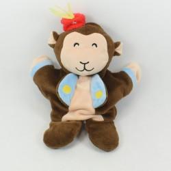 ZEEMAN monkey puppet comforter brown knot 26 cm