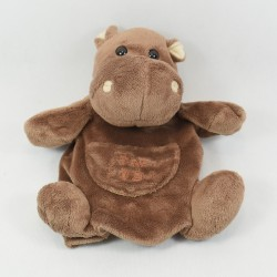 Doudou puppet hippopotamus HISTORY OF OURS brown 22 cm
