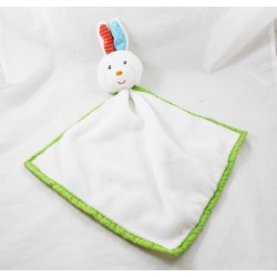 Doudou flat rabbit NANJING KESTREL Action white green bell 47 cm