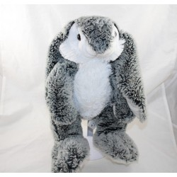 Peluche lapin SMALL FOOT COMPANY chiné gris blanc 35 cm