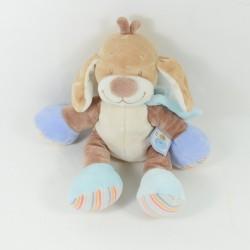 Dog flat comforter NATTOU Les Z'amis puppet blue 27 cm