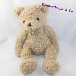 TeddyBär BEIGE BÄREN GESCHICHTE Lange Haare 34 cm