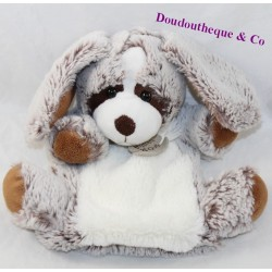 Doudou puppet dog HISTORY OF OURS Z'animoos brown grey HO2137 23 cm