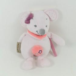 Musical plush Valentine mouse NATTOU Adèle & Valentine pink 23 cm